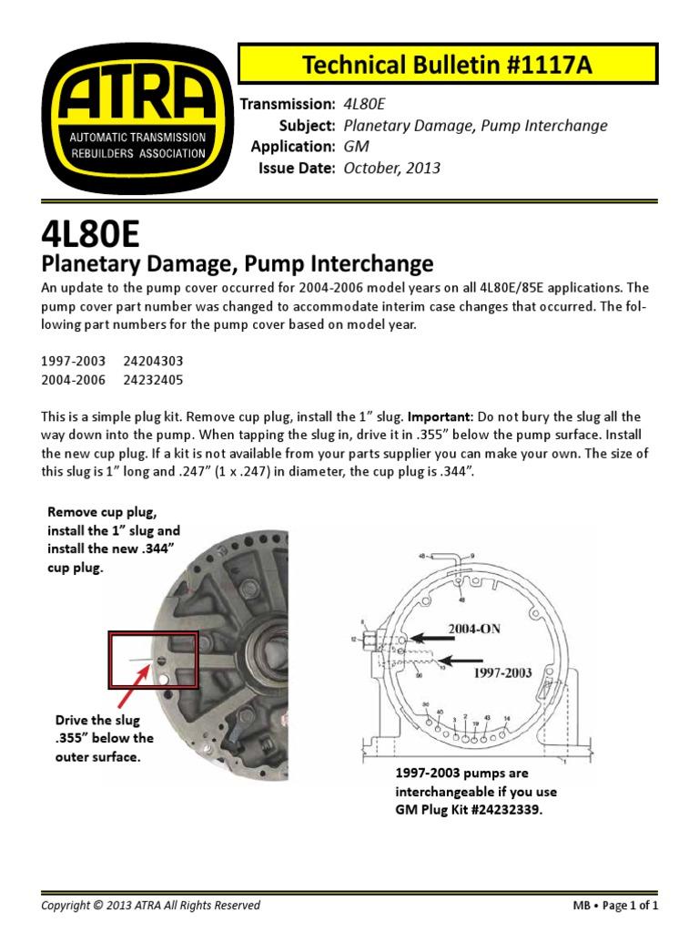 6l Bulletin Valve Transmission Mechanics 6l80e Wiring Diagram