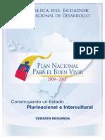 Plan Nacional Para El Buen Vivir (Version Resumida en Espanol)