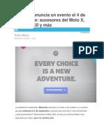 Motorola Anuncia Un Evento El 4 de Septiembre