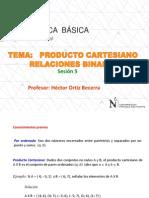 5ta Sesión - Producto Cartesiano, Relaciones Binarias, Ecuación de La Recta