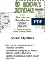 Lecture # 5 Revised Bloom_s Taxonomy
