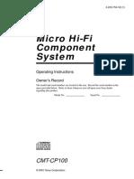 Sony Hifi Cmtcp100