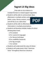 big ideas for 11th grade english