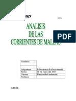 Analisis de Las Corrientes de Mallas