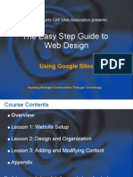 Easy Step Guide to Web Design Using Google Sit