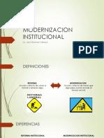 MODERNIZACION INSTITUCIONAL