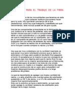 42 - Materiales para el trabajo de la FIBRA DE VIDRIO