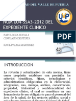Nom 004 Ssa3 2012 Del Expediente Clinico - PATOLOGIA BUCAL I