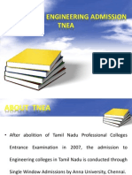 About Tamil Nadu Engineering Admission TNEA