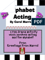Alphabet Acting