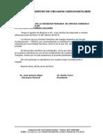 Intercambio Científico con la CACCV Colegio Argentino de Cirugía Cardiovascular