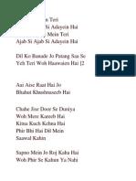 Aankhon Mein Teri notes