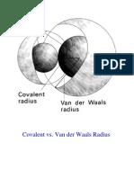 Covalent vs. Van Der Waals Radii