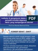 Indikator Pengukuran Dalam Epidemiologi Penyakit Kronik