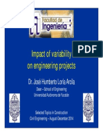 Impact of Variability on Construction Projects - Presentation