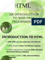 Introduction to HTML(Updated)