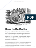 How to Be Polite — the Message — Medium