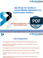 Case Study for Quality & Process Mobile Application for Construction Industry