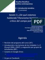 EG-0125 Desafíos Filosóficos de La Política Contemporánea - Sesión 1