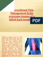 Failed Back Surgery Treatment Philadelphia