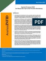 Analisis INFID No-3 Tahun 2014 Tentang Usulan Masyarakat Sipil Untuk Presiden Mendatang