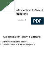 world religion intro