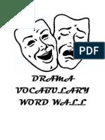 Drama Word Wall