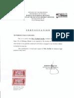Bracket B Certification