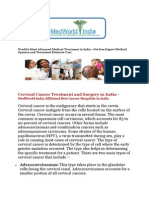 Cervical Cancer Treatment and Surgery in India    Low Cost Cancer Treatment in India