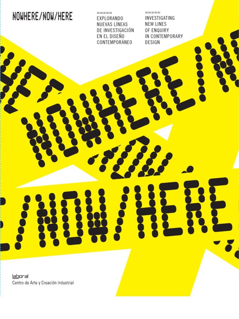 No Where Now Here_catalogo | Creativity | Interdisciplinarity
