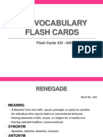 LAE Vocabulary Flash Cards 433 - 540
