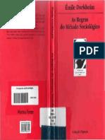 As Regras Do Método Sociológico Emile Durkheim