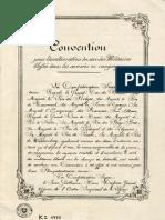 Convention de Genève du 22 août 1864 pour l'amélioration du sort des militaires blessés dans les armées en campagne