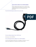 Focom obd2 diagnosis interface software Focom 1.0.9419 installation