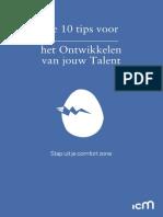 Icm e Book de 10 Tips Voor Het Ontwikkelen Van Jouw Talent