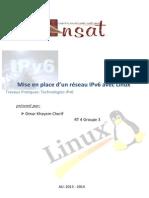 Compte Rendu Mise en Place d'Un Réseau IPv6 Avec Linux Omar Cherif RT 4