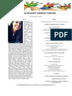 Building Blocks Therapy Centre Brochure - Nada El Araby