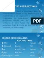 Subordinating Conjunctions Janinessergio@Beed3a