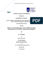 MBA THESIS ON SUPPLY CHAIN MGMT, LONDON