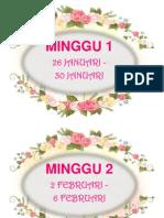 Label Minggu