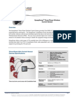 SynapSense Three Phase Wireless Current Sensor Data Sheet