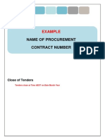 Tender Documentation RFT Template PDF