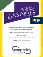 E-flyer Festival Das Artes