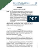 Tribunal Constituciona. Estatuto de Cataluña