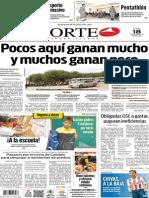 Periódico Norte edición del día 18 de agosto de 2014
