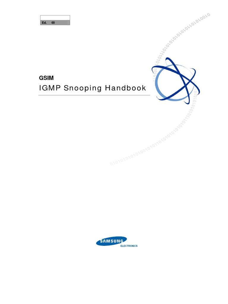 IGMP Snooping Handbook | Computer Network | Computer Networking