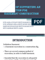 method supporting basement excavation