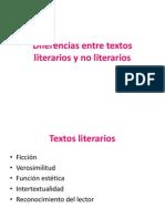 Diferencias Entre Textos Literarios y No Literarios