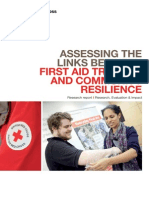Assessing the links between first aid training and community resilience