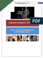 Curso de Filosofía y Educación
